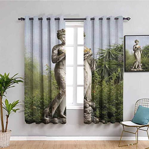 Sculptures - Cortina opaca para ventana (cristal), diseño de ninfa luchando con pulpo y concha marina en una lunette escultura arte en Bolonia, para salón o dormitorio, color gris
