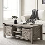 OKD 48-Inch Coffee Table Wood Cocktail Table Farmhouse Modern Center Rectangular Tables, with...
