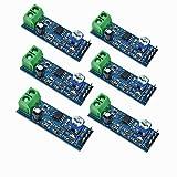 QEBIDUM 6pcs Audio Power Amplifier Module, Amplifier Board, Mini LM386 200 Times Gain 10K Solo Mono AMP Circuit Mini Guitar AMPS 200 Times 5V-12V Input 10K Adjustable Resistance