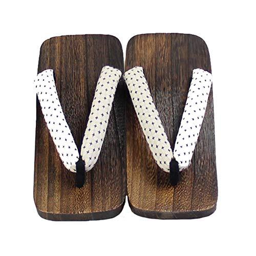 Japanische traditionelle Clogs Sandalen für Herren Rutschfeste Kimono Geta Flip Flops Indoot Outdoor