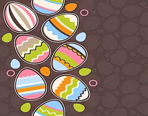 Y·JIANG Pintura de dibujos animados por números, huevos de Pascua DIY lienzo acrílico pintura al óleo por números para adultos niños decoración de pared del hogar, 40,6 x 50,8 cm