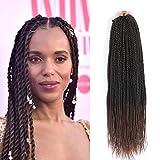 Senegalese Twist Crochet Hair 8 Packs Synthetic Crochet Braiding Hair 24 inch 2x Kanekalon Synthetic Micro Long Senegalese Twist Crochet Braids Hair For Black Women 35strands/pack (24 inch, T30#)