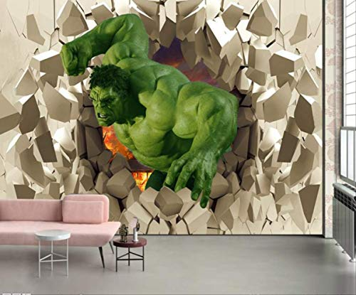 3d Avengers Photo Wallpaper Custom Hulk Wallpaper Unique Design Bricks Wall Mural Art Room Decor Wall Painting Kid Bedroom Heimat Breite 200cm * Height140cm pro