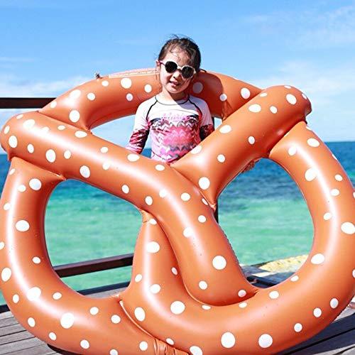 HGlSG Anillo de natación de 120 cm, colchón de Aire Flotante Tipo Donut, Gigante, Inflable, Pretzel Clircle, Juguetes flotantes para Fiesta de Piscina, Anillo de natación para niños y Adultos