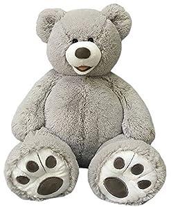 Valentine's 25 Inch Plush Teddy Bear - Grey