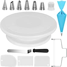 Kootek Cake Decorating Kit Supplies Baking Tools with Cake Turntable, 6 Numbered Cake Decorating Tips, 1 Icing Spatula, 3 ...