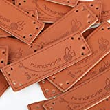 VINFUTUR 100pcs Etiquetas Handmade Cuero Etiquetas Personalizadas Hechas a Mano...