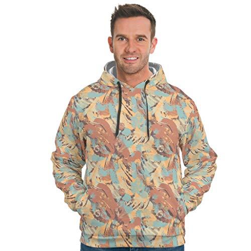 EPLstar Herren Oversized Hooded Sweat Sweatshirt Longsleeve Langarm Sweatshirt Pullover Rundhals Für Frauen White 2XL