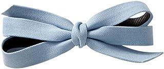 Osize 美しいスタイル デニムビッグボウヘアクリップヘアデコレーションクリップスプリングヘアクリップ(ライトブルー)