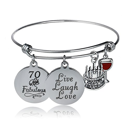 70 & Fabulous Charm Bracelet for Mom