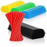 COM-FOUR® Pajitas para beber 375x - pajitas de colores - aptas para alimentos (375 piezas - de colores)