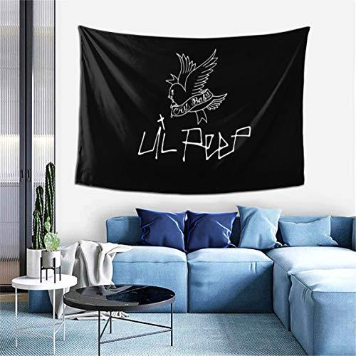 LVMD Lil Peep Love Tapiz para colgar en la pared, manta de pared para sala de estar, dormitorio, decoración del hogar, 60 x 40 pulgadas