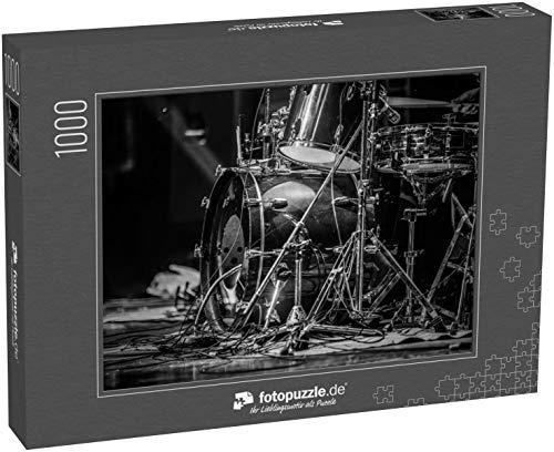 Puzzle 1000 Teile Teil eines Schlagzeuges für EIN Konzert schwarz-weiß - Klassische Puzzle, 1000 / 200 / 2000 Teile, edle Motiv-Schachtel, Fotopuzzle-Kollektion 'Musik'
