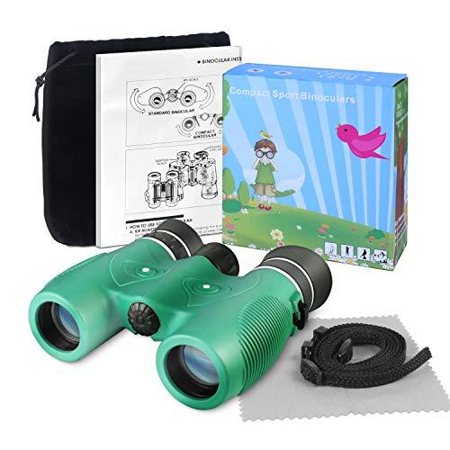 SAVFY Binocoli per Bambini Binocolo Birdwatching 8x21, Giocattoli da Esterno Educativi per Bambini dai 3-12 Anni, Ideale per Sightseeing, Osservare Le Stelle, Viaggi, Avventura all'Aria Aperta