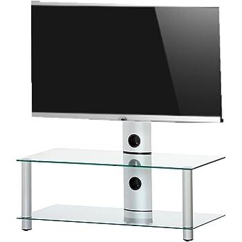 Elbe PL-2000-C-SLV - Mueble soporte para TV horizontal, 140 x 86 x ...