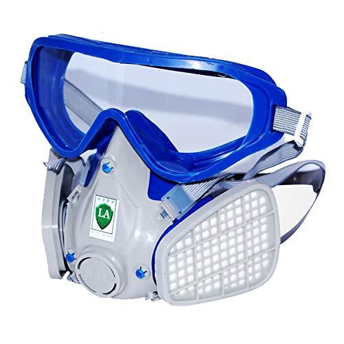 Respiratore Pieno Facciale con Filtro Maschera Antigas Protezione Respiratore di Sicurezza Professionale per Vernice, Polvere, Prodotti Chimici Militare