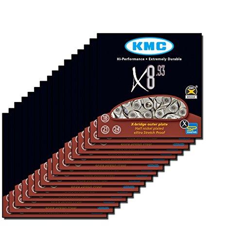 KMC X8.93 Fahrradketten, Unisex, Erwachsene, braun, 25 Stück