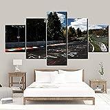 QZGRQ Leinwand gedruckt Bilder Wandkunst Gemälde 5 Panel