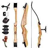 SinoArt 68' Takedown Recurve Bow Adult Archery Competition Athletic Bow Weights 18 20 22 24 26 28 30 32 34 36 LB Right and Left Hand Archery Kit for Outdoor Training Shooting