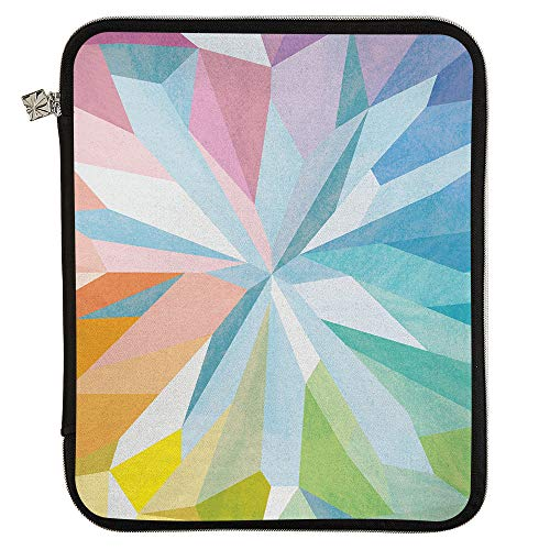 Erin Condren Large Designer Planner Folio - Kaleidoscope Colorful, Perfect Organizer for Documents, Planners, and Notebooks. Portfolio Case Holder with Zipper and Inner Pouch