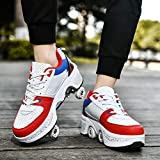 Automatic Walking Shoes Invisible Pulley Shoes Roller Shoes Male and Female Double-Row Deform Wheel Skating Shoes Adult Children's