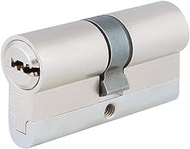 FAC 23253 Euro-profielcilinder, hoge veiligheid, gesatineerd chroom, 60 mm
