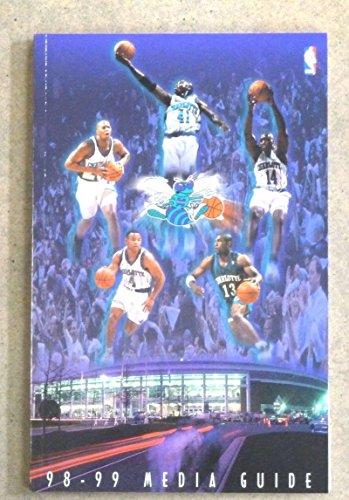CHARLOTTE HORNETS NBA BASKETBALL MEDIA GUIDE - 1998 1999 - NEAR MINT