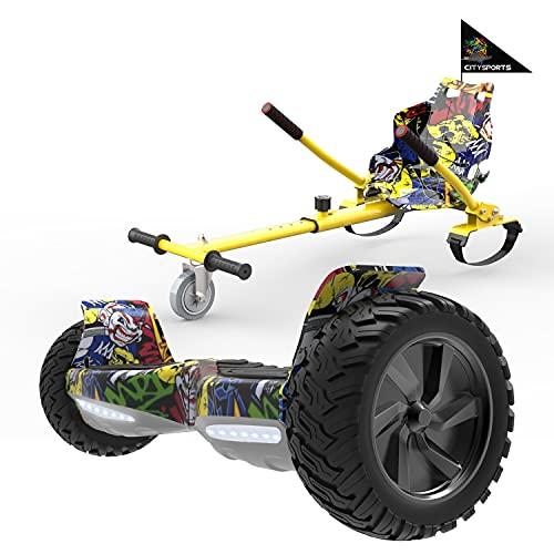 "MARKBOARD Self Balancing Scooter 8.5""avec Hoverkart Electric Scooter avec Bluetooth Hoverboards E-Skateboard-LED Lights"