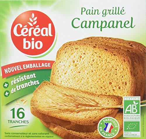 Céréal Bio Pain Grillé Bio Campanel 16 Tranches 250 g