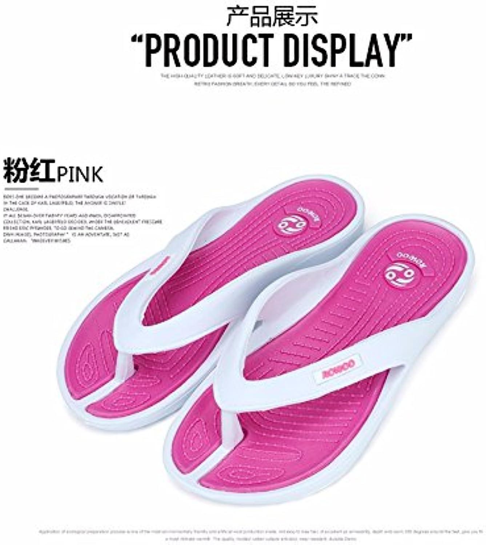 (PINK)Casual Beach Women Slipper Sandals Brand New design Summer Home Massage Flat FlipFlops shoes for Female plus Big Size