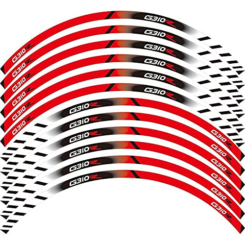 Etiquetas engomadas decorativas de la motocicleta Accesorios Para Equipos De Carreras De Motos, Rueda, Llanta, Decoración De Llantas, Pegatina Reflectante Adhesiva Para B-M-W G310R (Color : 2)