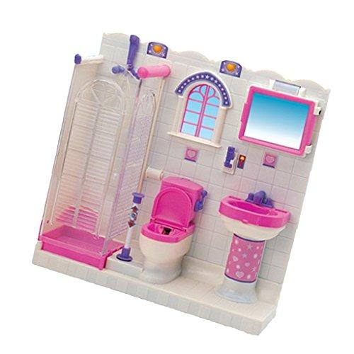 Fenteer 1:6 Kits de Salle de Bain Miniature en Plastique Meubles pour Blythe Licca Azone