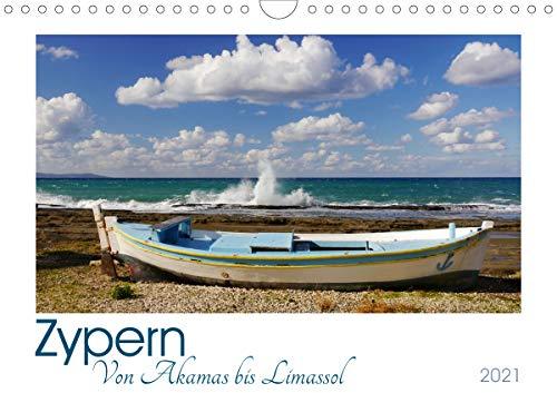 Zypern. Von Akamas bis Limassol (Wandkalender 2021 DIN A4 quer)