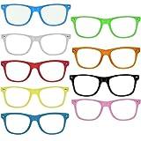 OG NERD-BRILLEN 10 STÜCK ohne Gläser Party-Brille Spaß-Brille Geek-Brille Pantobrille Wayfarer...