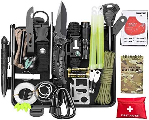 SCRIBY Survival Kit 73 in 1 Emergency Survival Gear and Equipment First Aid Kit SOS EDC Survival product image