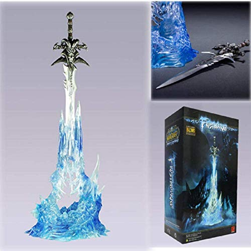 Anime Statue Modellwow Arthas Menethils Waffe Frostmourne Schwert Actionfigur Sammler Modell Spielzeug Puppen Geschenk 25Cm