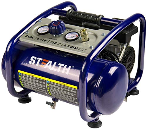 STEALTH Air Compressor, Ultra Quiet and Oil-Free,1HP 3...