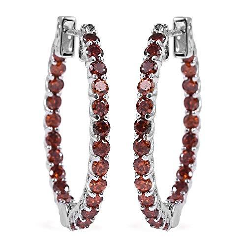 ELANZA Cubic Zirconia Hoops, Hoop Earrings for Women in 925 Sterling Silver Valentines Day Gift for Girls, Women, Love