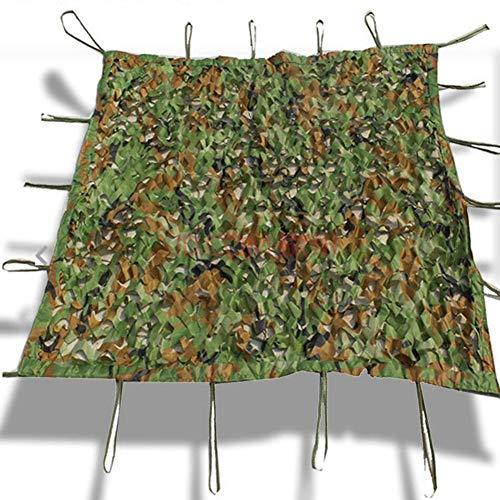 LIANGJUN Filet De Camouflage Filet D'ombrage Crème Solaire Sol Couvrant Étanche À La Poussière Facile À Plier Restaurant Décoration,de Plein Air (Color : Green, Size : 6x8m)