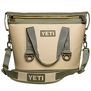 YETI Hopper Two 20 Portable Cooler, Field Tan/Blaze Orange