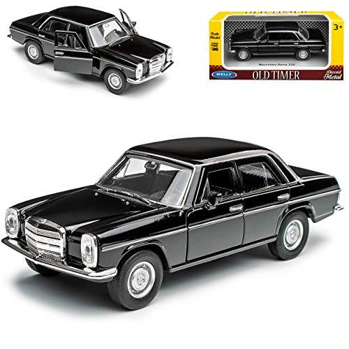 alles-meine.de GmbH Mercedes-Benz 200 /8 Strich Acht Limousine Schwarz W114 W115 1967-1976 ca 1/43 1/36-1/46 Welly Modell Auto