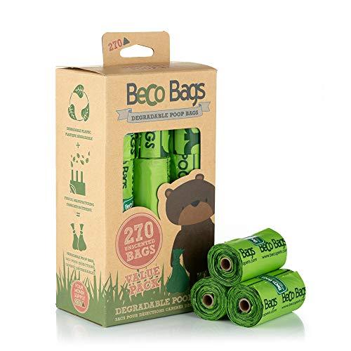 Beco Bags Hundekotbeutel, robust, groß, 60 Stück, Ohne Duft, Value Pack 18 Rolls (270 Bags), X