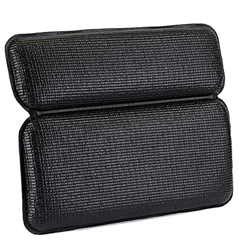 名前とティームカウントサクションカップスパ付き浴室枕防水浴室浴槽枕は頭と首のための最高の浴室の付属品をサポートしています,Black
