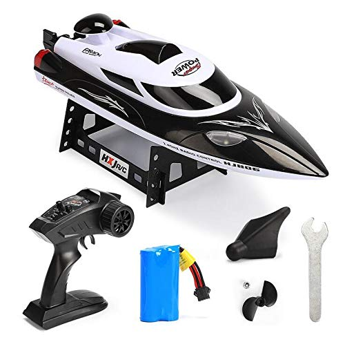 F.O.G. 2.4Ghz RC Racing Boat, 35KM/H High-Speed Waterproof Remote Control Race Boat, with Self Righting, Durable Structure,Best Summer Gifts for Boys & Girls,Black