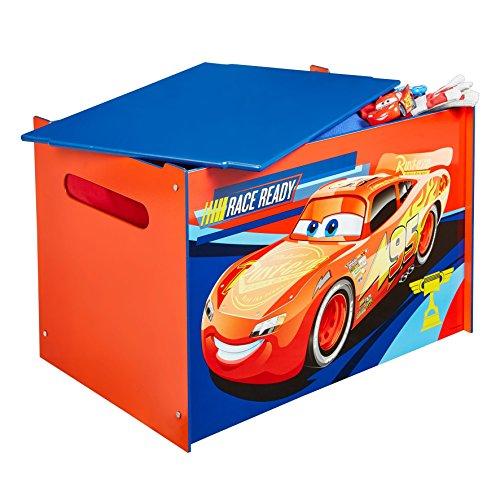 Disney Cars -  Spielzeugkiste für Kinder – Aufbewahrungsbox für das Kinderzimmer