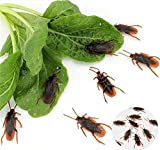 Ksquares Prank Fake Roaches, Favorite Trick Joke Toys Look Real, Scary Insects Realistic Plastic Bugs, Novelty Cockroach for Party, Christmas, Halloween
