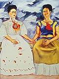 1art1 Frida Kahlo - Die Zwei Fridas Poster Kunstdruck 80 x