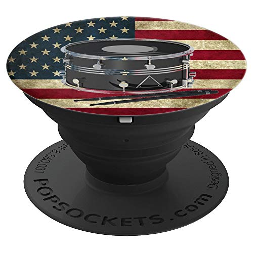 Marching Band Snare Drum Percussion Section PopSockets Grip and Stand for Phones and Tablets