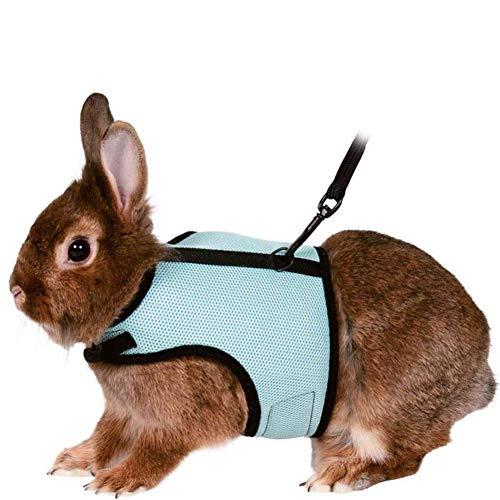 tackjoke Verstellbares Weiches Kaninchen Geschirr mit Elastischer Leine Weich und bequem, Zugang für Kaninchen, Chinchillas, Hamster, Schneeleoparden, Meerschweinchen usw
