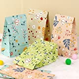AerWo 48pcs Floral Gift Bags, Flowers Birthday Gift Bag, Goodie Bags, Goodie Bags for Kids Birthday,...